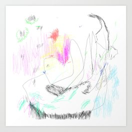 abstract whale Art Print