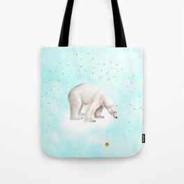 Wish upon a star polar bear Tote Bag