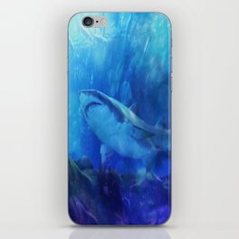 Make Way for the Great White Shark King  iPhone Skin