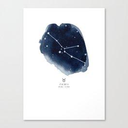 Zodiac Star Constellation - Taurus Canvas Print