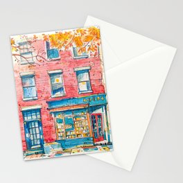 Bookstore in Manhattan Stationery Cards