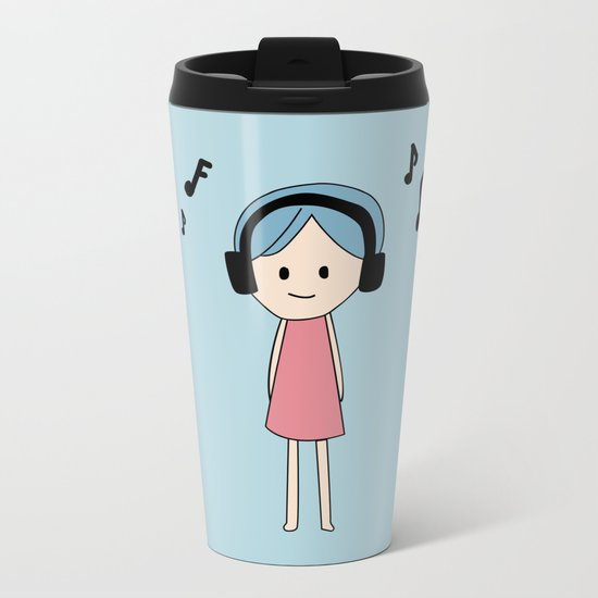 listening Metal Travel Mug