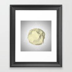 triangle circle Framed Art Print