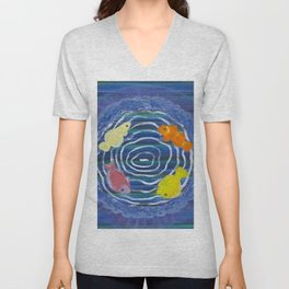 Survival to be alternated with repetition and circulation Unisex V-Neck