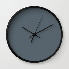 Plain Peninsula Blue to Coordinate with Simply Design Color Palette Wall Clock