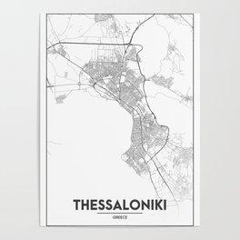 Minimal City Maps - Map Of Thessaloniki, Greece. Poster
