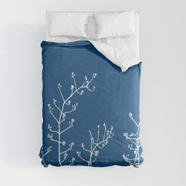 Elegant Floral on Classic Blue, Color of the Year 2020 Comforters