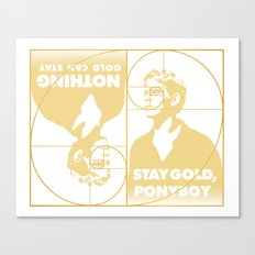 Stay (Nothing Gold Can Stay) Ponyboy Canvas Print