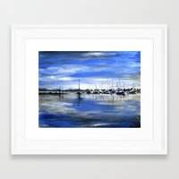 boats Framed Art Prints featuring Boats by Averin Art