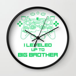 I Leveled Up to Big Bro 2020 Birthday Video Game Wall Clock