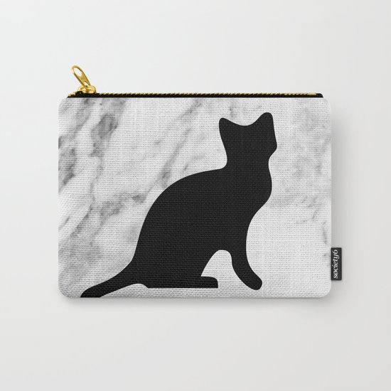 Marble black cat Carry-All Pouch