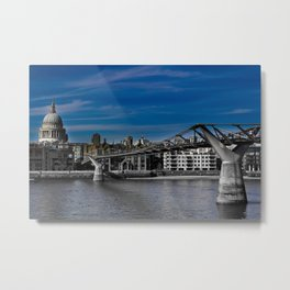 The Millenium Bridge London Metal Print