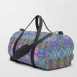 Fractal Art Stained Glass G375 Duffle Bag