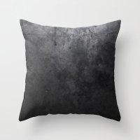 concrete Throw Pillows featuring CONCRETE by Danielle Fedorshik