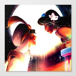 jasmine and aladdin Canvas Print