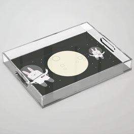 Astro Bunnies Acrylic Tray