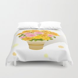 Bouquet of asters Duvet Cover
