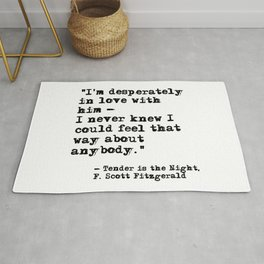 Desperately in love with him - Fitzgerald quote Rug