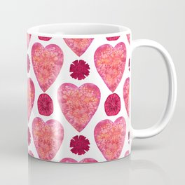 Hearts and Flowers for Valentine's Day Coffee Mug