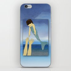 Triton tossing his mermaid daughter iPhone & iPod Skin