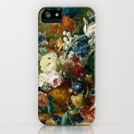"Jan van-Huysum ""Flowers in a Vase with Crown Imperial and Apple Blossom"" iPhone Case"