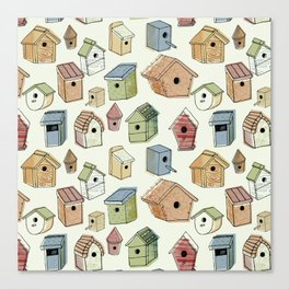 Bird Boxes Canvas Print