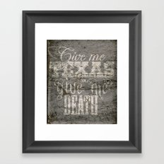 Give Me Texas... Framed Art Print