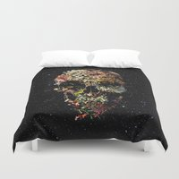 skull Duvet Covers featuring Smyrna Skull by Ali GULEC