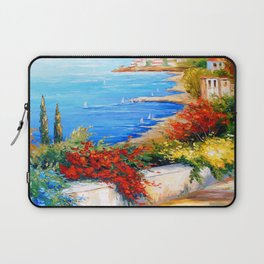 Bright day by the sea Laptop Sleeve