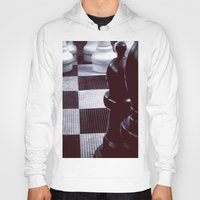 chess Hoodies featuring Chess Perspective by Thick Paint Works