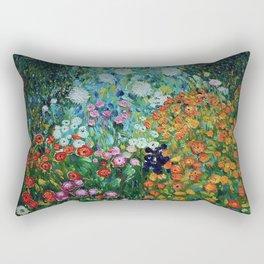 Flower Garden Riot of Colors by Gustav Klimt Rectangular Pillow