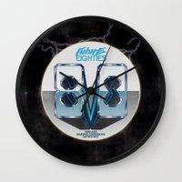 80s Wall Clocks featuring Future 80s by Nikola Kolobaric