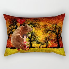 Bicycle bear and the jungle boy iPhone 4 4s 5 5c 6, pillow case, mugs and tshirt Rectangular Pillow