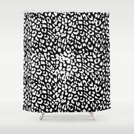 Leopard Black & White Shower Curtain