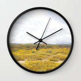 Mega Bloom Central California, Carrizo Plain National Monument 2 Wall Clock
