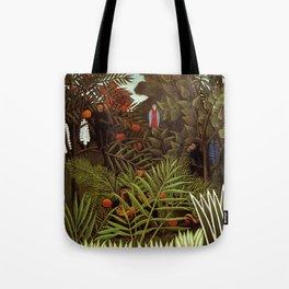 """Henri Rousseau """"Exotic landscape"""", 1908 Tote Bag"""