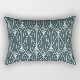 Peacock rhombus pattern Rectangular Pillow