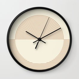 Geometric lines in Shades of Coffee and Latte Wall Clock