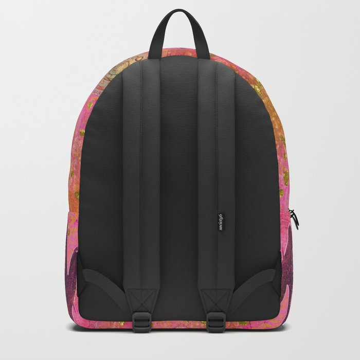 Hands ethnic symbol painting Backpack