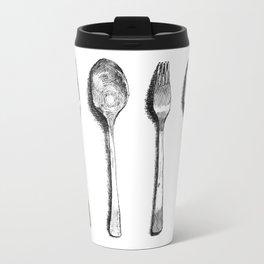 spoon and fork Travel Mug