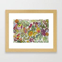 Life Changing Foods Framed Art Print