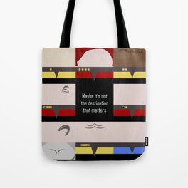 Maybe it's not the Destination that matters - square - Star Trek: Voyager VOY  trektangle minimalist Tote Bag