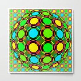 Circles & Squares Seranade Metal Print