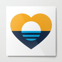 Heart of MKE - People's Flag of Milwaukee Metal Print