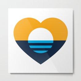 Heart of MKE - People's Flag of Milwaukee Metal Print