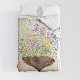wildflowers on hand Comforters