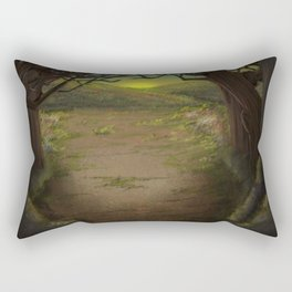 Forest Opening Out To A Meadow Rectangular Pillow