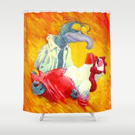Gonzo With The Wind Shower Curtain