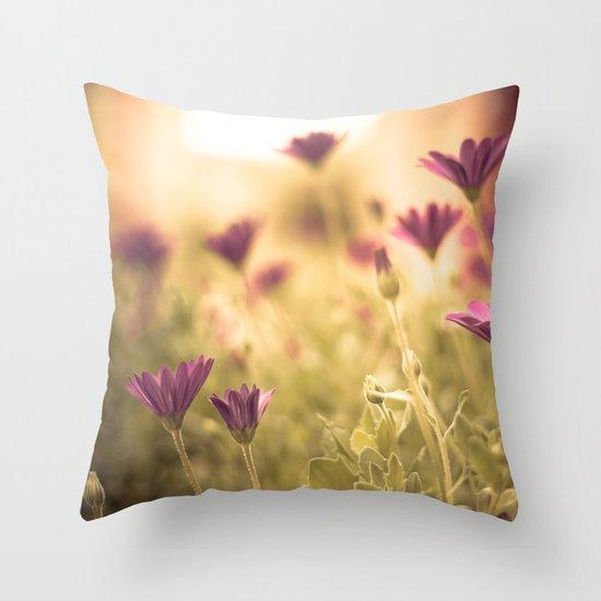Sun in the meadow  Throw Pillow