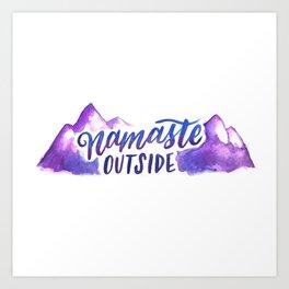 Namaste Outside Art Print